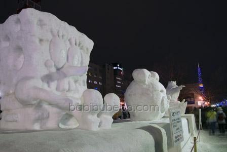 Sapporo Snow Festival Sponge Bob