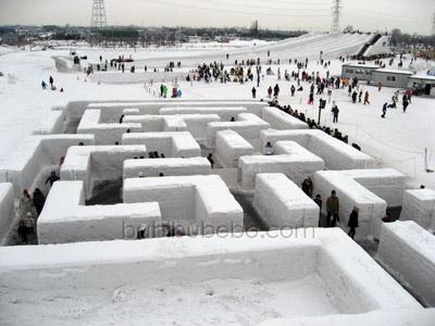 Sapporo Snow Festival Satoland Maze Slide